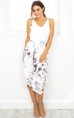 Busy Busy skirt in white floral