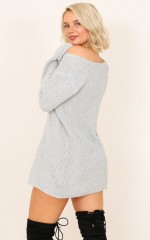 Winter Is Coming knit dress in grey