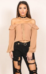 Cry Wolf top in mocha