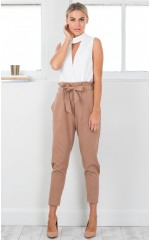 Work Up pants in camel