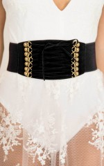 Your Body Is A Wonderland corset belt in black