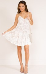 Your Stories dress in white lace