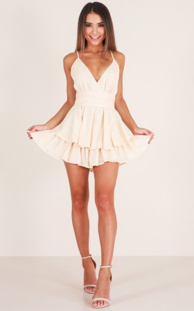 Passing By playsuit in beige