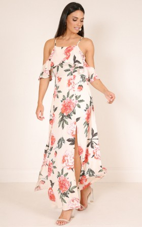 Bel Air maxi dress in pink floral