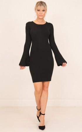 Upper Management knit dress in black