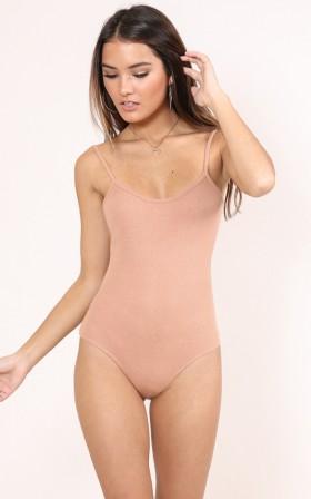 Add Me bodysuit in peach