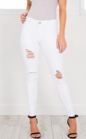 Melinda Jeans in white