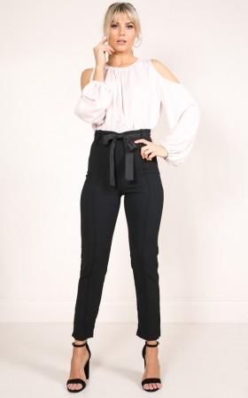 Break It Down Pants in Black