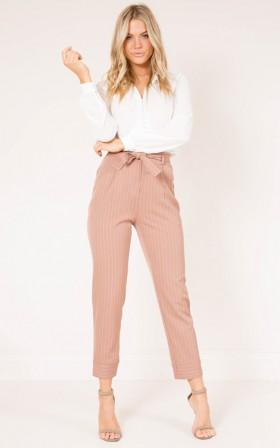 Breakaway pants in camel stripe