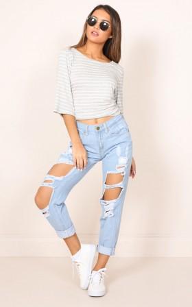 Django boyfriend jeans in blue