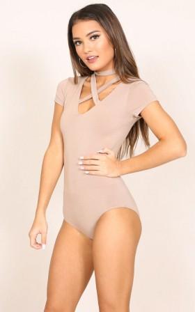 Get It Girl Bodysuit in mocha