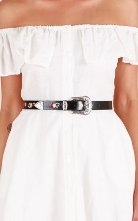 Glam Queen belt in black