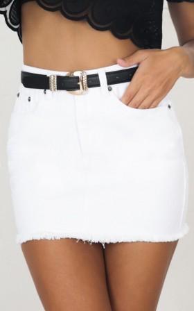 I Got This Skirt in White Denim
