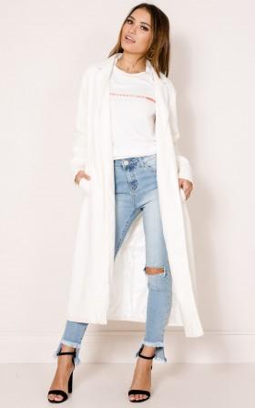 Just In Case coat in white