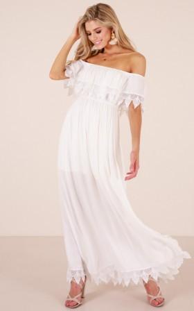 Little Miss Happy maxi dress in white