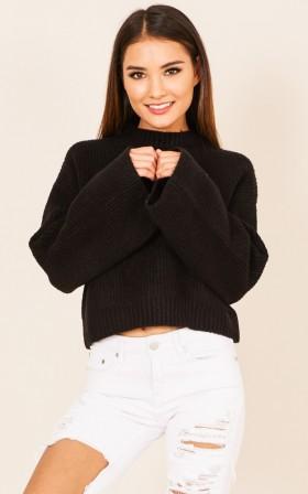 Make Today Wonderful knit in black