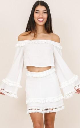 Miss Me Yet skirt in white