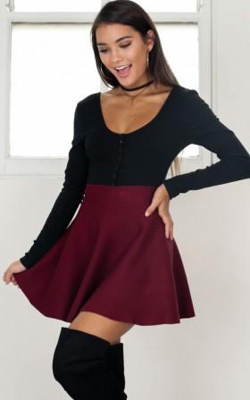Real Deal skirt in wine