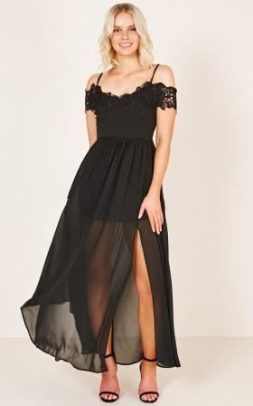 Run The Night Dress in black