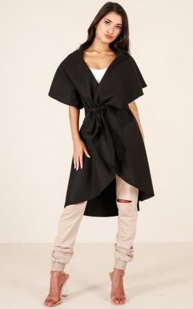 Show Me Love trench vest in black