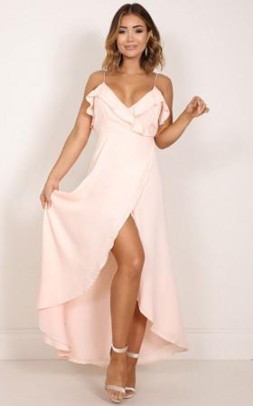 Something Like Love maxi dress in blush
