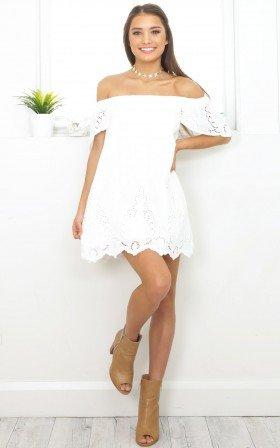 Sweet Nights dress in white