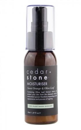 Cedar and Stone - sweet orange and olive leaf moisturiser