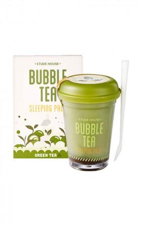 Etude House - Bubble Tea Overnight Gel Mask in green tea