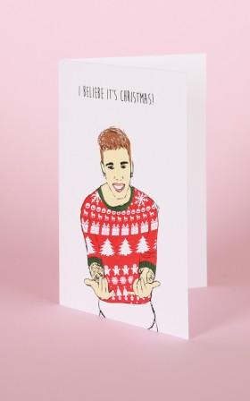 I Beliebe Its Christmas card