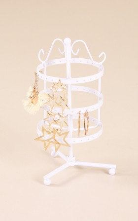 Happy Hearts jewellery holder in white
