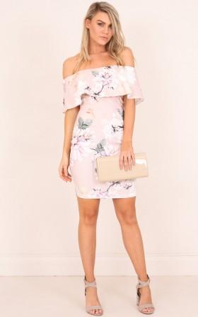 Precious Things dress in  blush floral