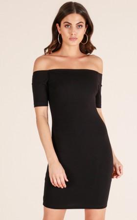 Demure Doll dress in black