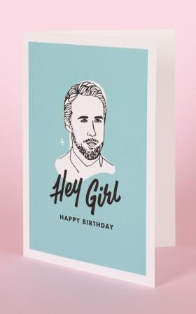Famous Flames Birthday Card - Hey Girl