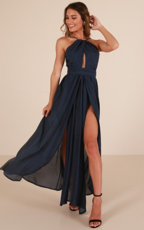 Love This City maxi dress in navy