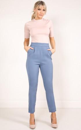 Working Class Gal pants in steel
