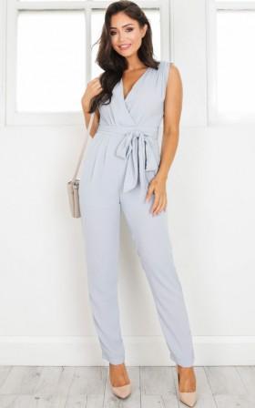 Workaholic jumpsuit in grey