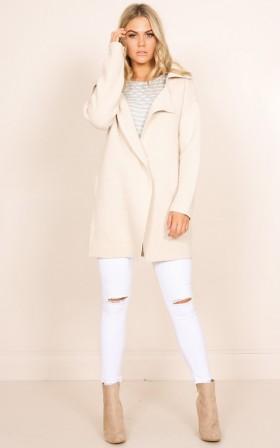 You Were Right coat in cream