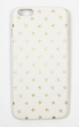Reach For The Stars iphone 6 Plus cover in white and gold