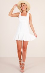 Work It Out dress in white