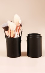 Travel Makeup Brush Case in black