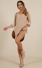 On The Floor knit dress in beige