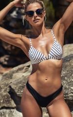 All You Ever Wanted Bikini Top in White Stripe