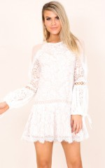 Be My Universe dress in white lace