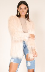 Faux Real coat in blush
