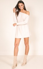 Fight Or Flight knit dress in blush