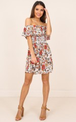Floral Daze dress in rust floral