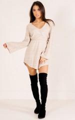 No Hesitation Dress in beige