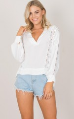 Love Season Top in white