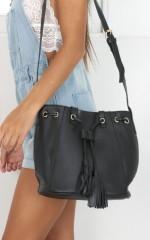 Cautionary Bag in black