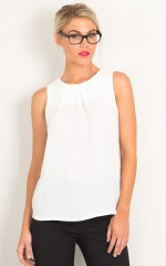 Daily Grind top in white